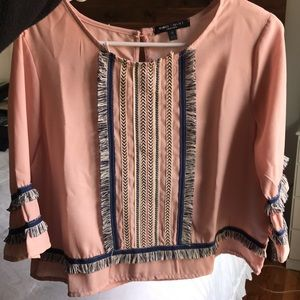 Blouse/top three quarter sleeve